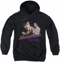 Elvis Presley youth teen hoodie Heartbreak Hotel black
