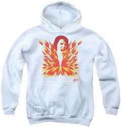 Elvis Presley youth teen hoodie His Latest Flame white