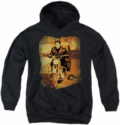 Elvis Presley youth teen hoodie Hit The Road black