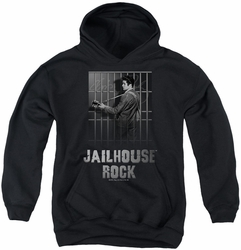 Elvis Presley youth teen hoodie Jailhouse Rock black