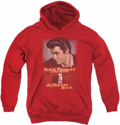 Elvis Presley youth teen hoodie Jailhouse Rock Poster red