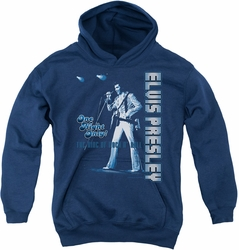 Elvis Presley youth teen hoodie One Night Only navy