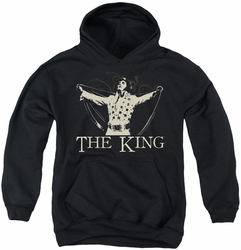 Elvis Presley youth teen hoodie Ornate King black