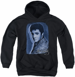 Elvis Presley youth teen hoodie Overlay black
