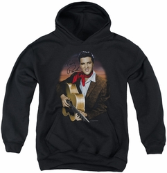 Elvis Presley youth teen hoodie Red Scarf #2 black