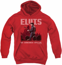 Elvis Presley youth teen hoodie Return Of The King red