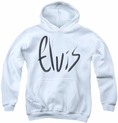 Elvis Presley youth teen hoodie Sketchy Name white