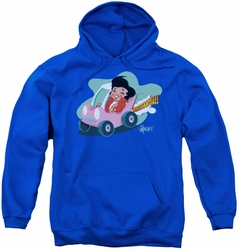 Elvis Presley youth teen hoodie Speedway royal blue