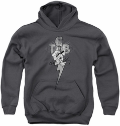 Elvis Presley youth teen hoodie Tcb Ornate charcoal