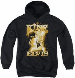 Elvis Presley youth teen hoodie The King black