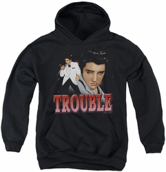 Elvis Presley youth teen hoodie Trouble black
