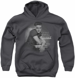 Elvis Presley youth teen hoodie Trouble charcoal