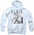 Elvis Presley youth teen hoodie With The Band white