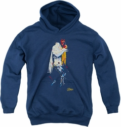 Elvis Presley youth teen hoodie Yellow Scarf navy