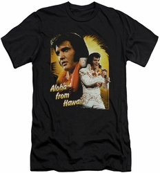 Elvis slim-fit t-shirt Aloha mens black