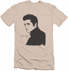 Elvis slim-fit t-shirt Black Paint mens cream