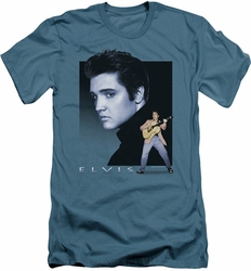 Elvis slim-fit t-shirt Blue Rocker mens slate