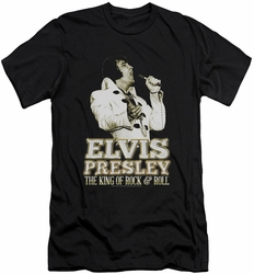 Elvis slim-fit t-shirt Golden mens black