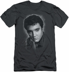 Elvis slim-fit t-shirt Grey Portrait mens charcoal
