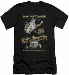 Elvis slim-fit t-shirt Live In Buffalo mens black