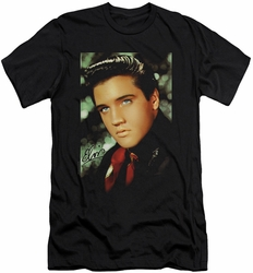 Elvis slim-fit t-shirt Red Scarf mens black