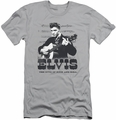 Elvis slim-fit t-shirt The King Of mens silver