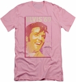 Elvis slim-fit t-shirt Trouble With Girls mens pink