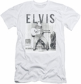 Elvis slim-fit t-shirt With The Band mens white