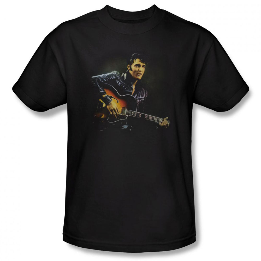 Elvis T Shirt 1968 Mens Black
