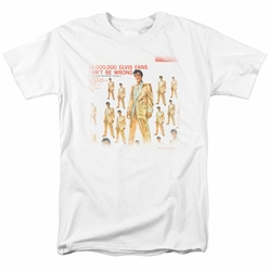 Elvis t-shirt 50 Million Fans mens white