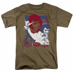 Elvis t-shirt Aloha Hang Loose mens safari green