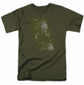 Elvis t-shirt Army mens military green
