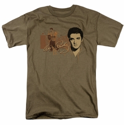 Elvis t-shirt At The Gates mens safari green