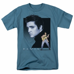 Elvis t-shirt Blue Rocker mens slate