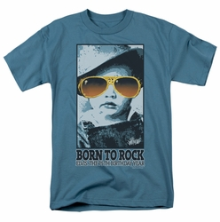 Elvis t-shirt Born To Rock mens slate