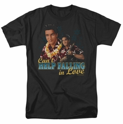 Elvis t-shirt Can'T Help Falling mens black