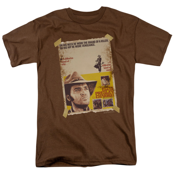 Elvis T Shirt Charro Mens Coffee