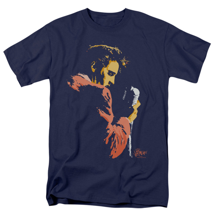 Elvis T Shirt Early Elvis Mens Navy