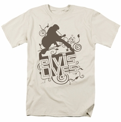 Elvis t-shirt Elvis Lives mens cream
