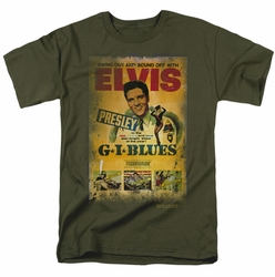 Elvis t-shirt Gi Blues Poster mens military green