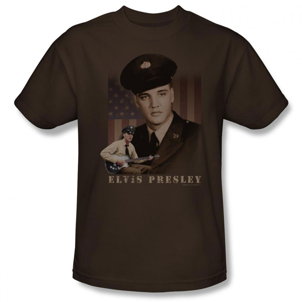 Elvis T Shirt Gi Elvis Mens Coffee