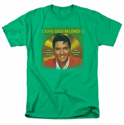 Elvis t-shirt Gold Records mens kelly green