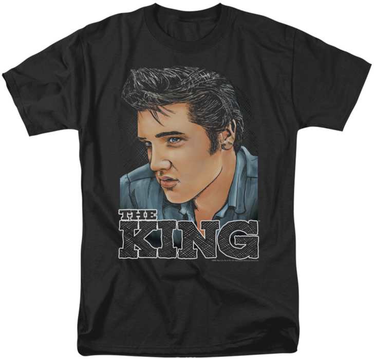 Elvis T Shirt Graphic King Mens Black