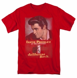 Elvis t-shirt Jailhouse Rock Poster mens red