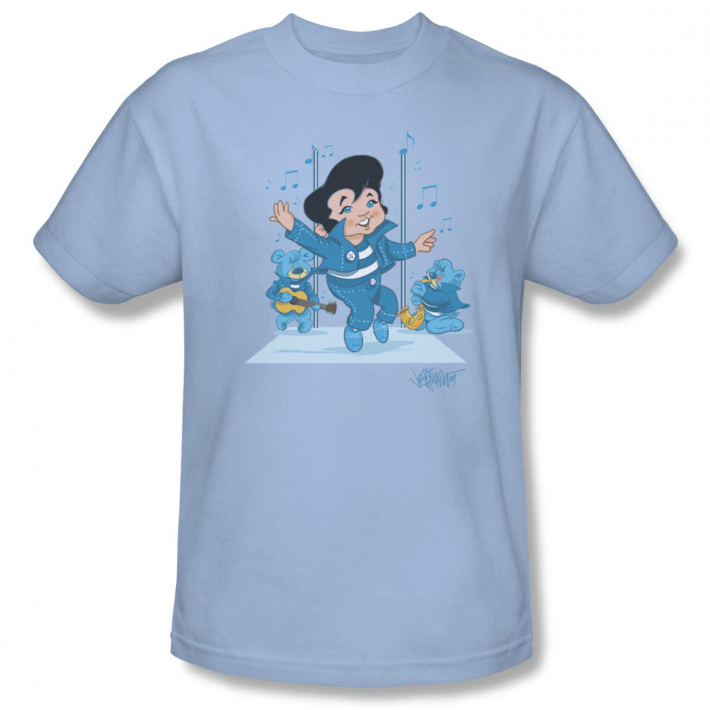 Elvis T Shirt Jailhouse Rocker Mens Light Blue: light blue t shirt mens