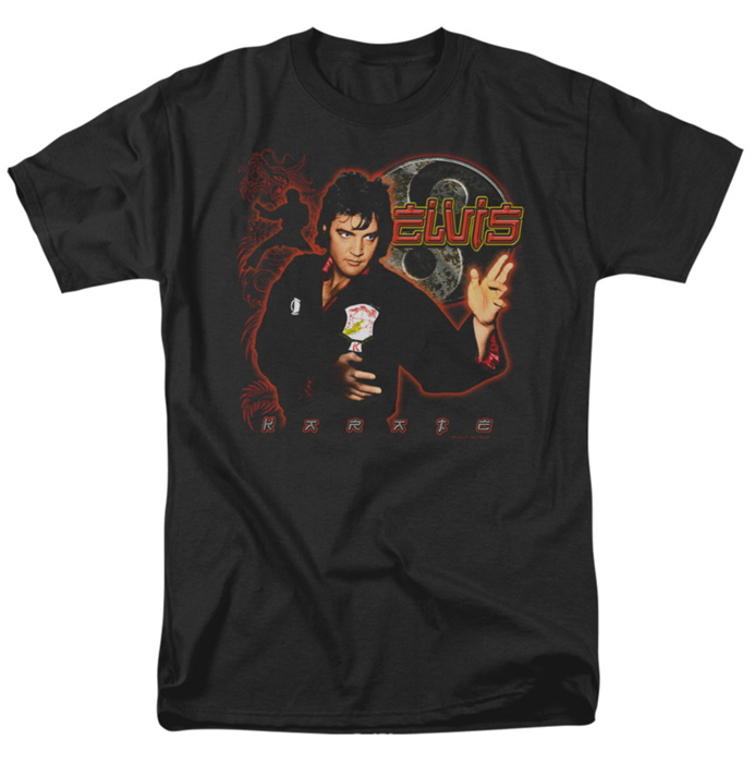 elvis t shirt karate mens black