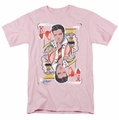 Elvis t-shirt King Of Hearts mens pink