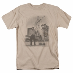 Elvis t-shirt Larger Than Life mens sand