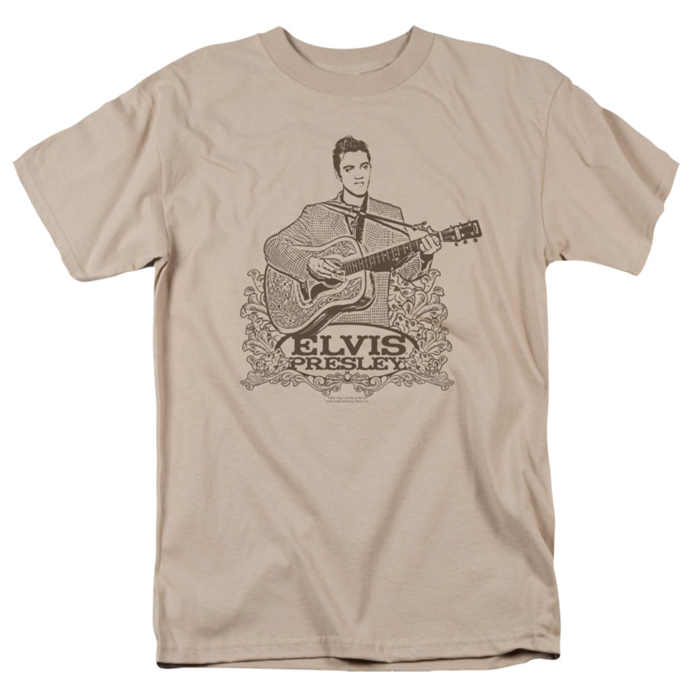 Elvis T Shirt Laurels Mens Sand