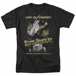 Elvis t-shirt Live In Buffalo mens black